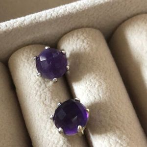 Silpada What a Gem Amethyst Silver Earrings